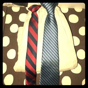 Lot of two clip on ties M 8-10 years old